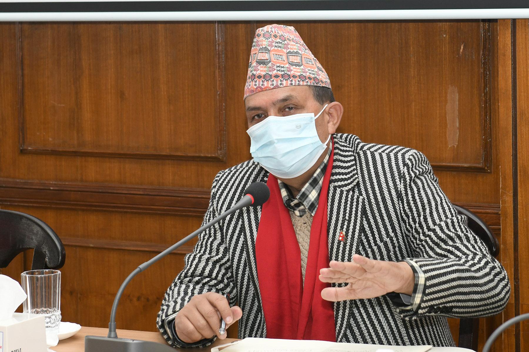 माननीय मन्त्री भानु भक्त ढकालज्यू समक्ष पर्यटन विभाग एवम् नेपाल पर्यटन बोर्डबाट भएको प्रस्तुतीकरण कार्यक्रमका तस्वीर-(२०७७-०९-१४)
