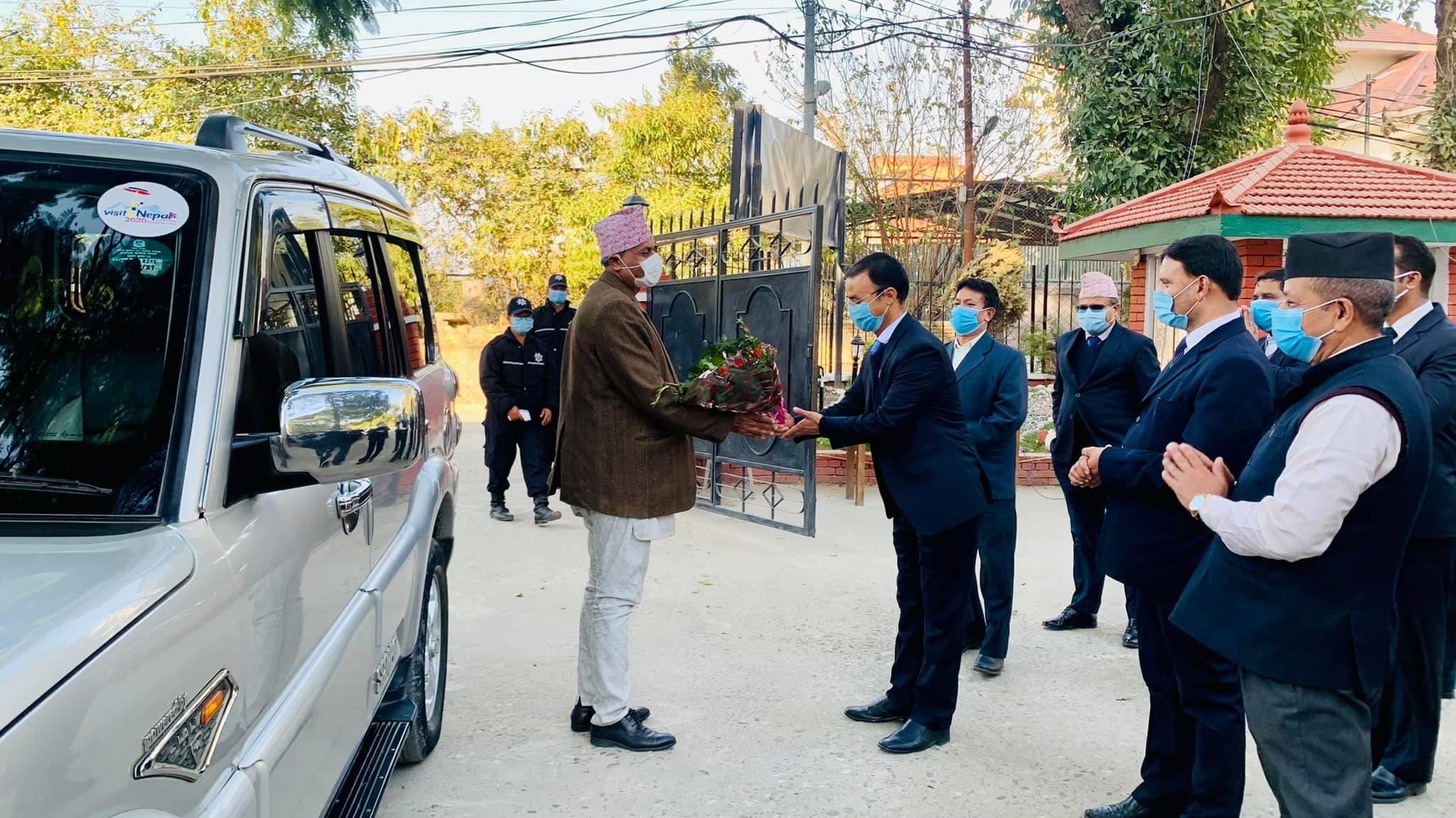 श्रीमान सचिवज्युको नेपाल पर्यटन तथा होटल व्यवस्थापन प्रतिष्ठान, रविभवन, काठमाडौंमा