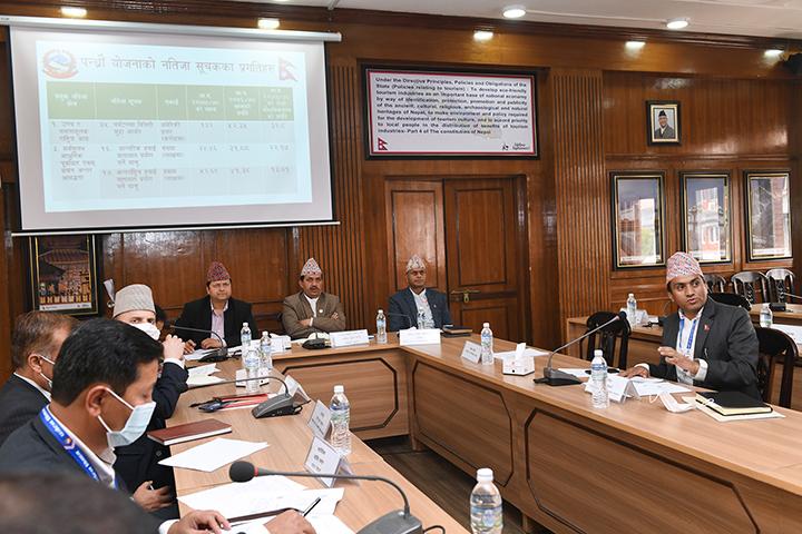 दोस्रो चौमासिक प्रगति समिक्षा र मन्त्रालयस्तरीय समस्या समाधान समिति(MDAC)को बैठकका तस्वीरहरु-(२०७७ चैत १७)