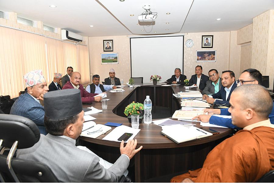 माननीय मन्त्रीज्यूको अध्यक्षतामा बसेको लुम्बिनी विकास कोषको कार्य कारिणी समितिको बैठकका तस्वीरहरु-(२०७७ चैत १८)