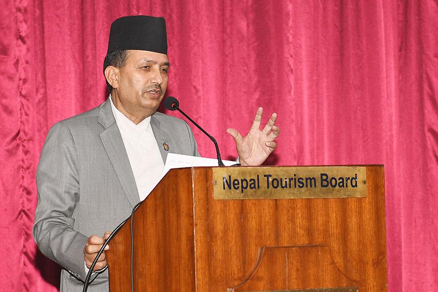 """""""आजको पर्यटन-चुनौती र अवसर"""" बिषयमा पर्यटन सम्बद्ध सरोकारवाला संस्थाहरुसँगको अन्तर्कृया कार्यक्रमका तस्वीरहरु(२०७७-१२-३०)"""