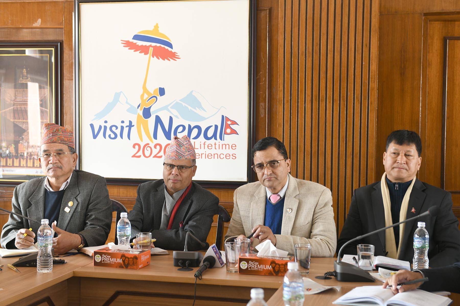 नेपाल भ्रमण बर्ष २०२० का सन्दर्भमा काठमाडौं उपत्यकाका नगर प्रमुखहरुसँगको अन्तरक्रिया कार्यक्रमका- तस्वीर (२०७६-०९-०९)